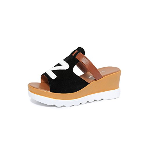 fondo Aumentare spessore Scarpe femminili da i Gray piatto ed e morbido allentato sandali le pantofole estate SHINIK donna di Nuovo Primavera 4P04Hx