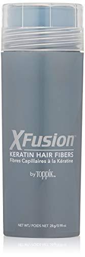 XFusion Keratin Hair Fibers, Dark Brown, Economy Size, 28 Gram (Toppik Hair Fibers)