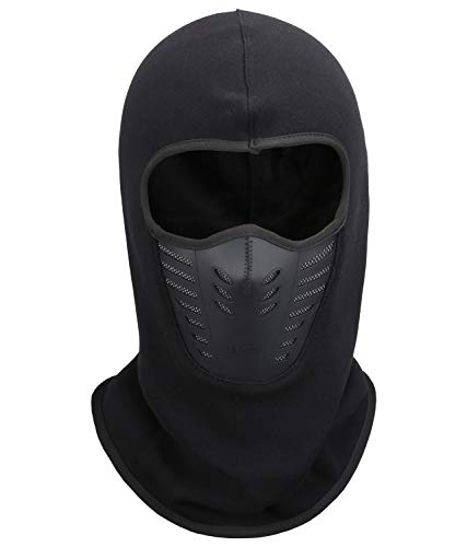 Fantastic Zone Balaclava Face Mask, Winter Fleece Windproof Ski Mask for Men and Women,Black,One Size