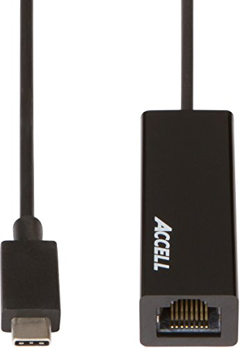 Gigabit Crossover Adapter - Accell USB-C to Ethernet Adapter - USB 3.1 Type-C to Gigabit Ethernet (RJ45) Adapter - Up to 1000 Mbps, Compatible with Windows/Mac OS/Chrome OS
