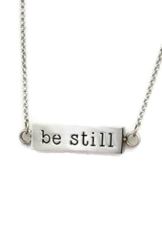 Be Still Rectangle Bar Essential Oil Diffuser Necklace- 22-24