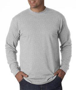 Gildan Men's 5.5 oz., 50/50 Long-Sleeve T-Shirt, Ash, X-Large ()