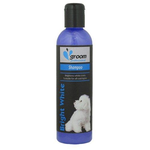 Groom Profesional – Champú para Perros de Pelo Blanco Brillante, 250 ml