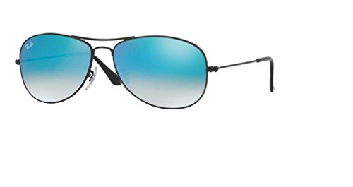 Ray Ban RB3362 COCKPIT 002/4O 59M Shiny Black/Blue Gradient Flash Sunglasses For Men For ()