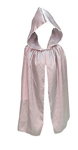 Robe With Grey Hood Costumes (Kids Hooded Cape Witch Vampire Death Cloak Robe Halloween Cosplay Costume)