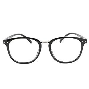 EyeBuyExpress Prescription Mens Womens Black Classic Retro Style Reading Glasses Anti Glare Quality +7.00