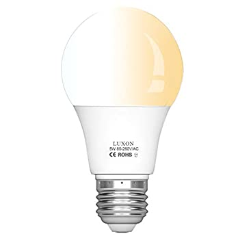 Motion Sensor Light Bulb A19 Radar Motion Detector Light Dusk to Dawn Smart Led Bulbs Lamp Lighting Indoor Outdoor Motion Sensor Bulb Auto On/Off E26 Base Soft White 2700K by LUXON