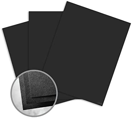 250 pack Neenah Astrobright Eclipse Black Card Stock 80 lb cover