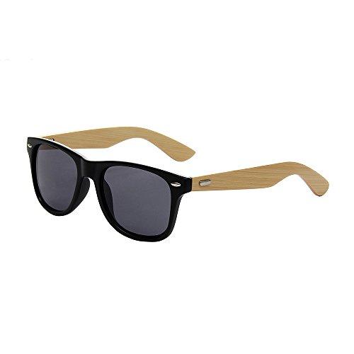Shiratori Prevent Radiation Classic Bamboo Wood Sunglasses Matte - According Face Sunglasses To