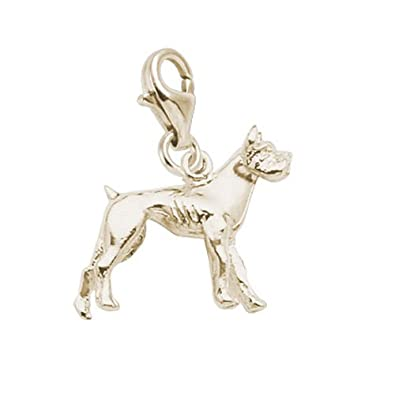 10K Yellow Gold Rembrandt Charms Boxing Charm with Lobster Clasp