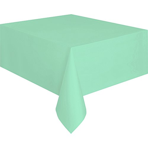 Mint Plastic Tablecloth, 108