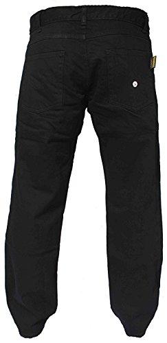 hommes de jais moto Armures Jeans Pantalons renforcés par la protection Aramide Doublure