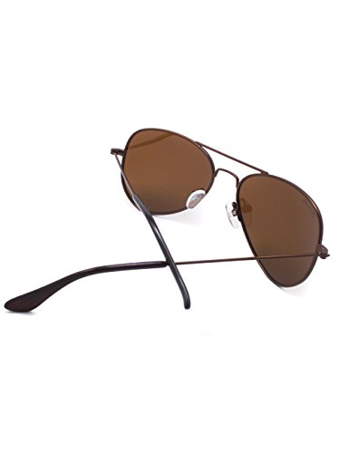 Metall Flieger Rahmen Kleines Gesicht Männer Frauen Teenager UV400 Polarisiert Sonnenbrille (Schwarz Rahmen + Graue Linsen) rRWT0kKNNa