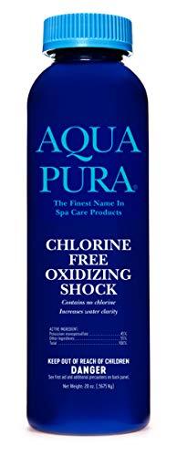 AQUA PURA Chlorine-Free Oxidizing Shock - Swimming Pool & Hot Tub Maintenance Supplies - 1 Lb Efficiency Smart Size Chlorine Free Pool Shock