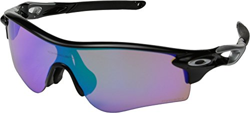 Oakley Men's Radarlock Path (a) 0OO9206 Non-polarized Iridium Wrap Sunglasses, POLISHED BLACK, 38.01 - Oakley Sunglasses $25