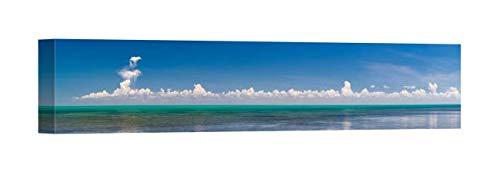 Easy Art Prints Panoramic Images's 'Scenic View of Atlantic Ocean, Bahia Honda Key, Florida Keys, Florida' Premium Canvas Art 36 x 9