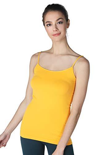 (NIKIBIKI Women Seamless Premium Classic Camisole, Made in U.S.A, One Size (Mango))