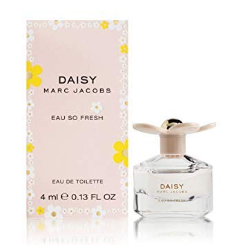 Marc Jacobs Daisy Eau so Fresh Eau de Toilette Mini Splash, 0.13 Ounce (Green Perfume Apple Jasmine)
