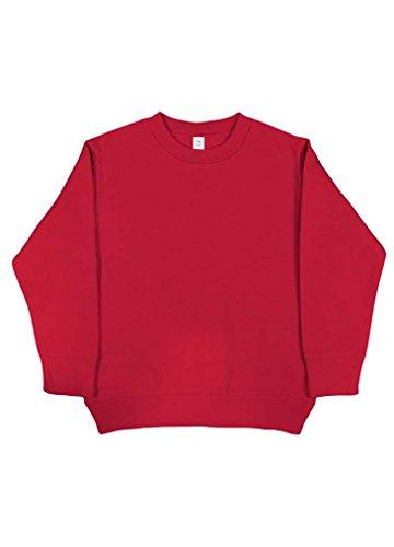 Fleece Sweatshirt Coast - Rabbit Skins Blank Toddler Fleece Sweatshirt [Size 3T] Red Long Sleeve Sweatshirt