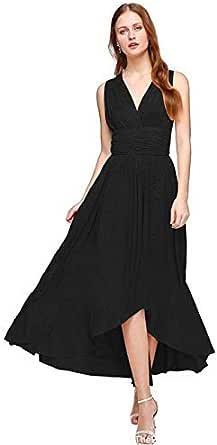Women High Waist Long Dress