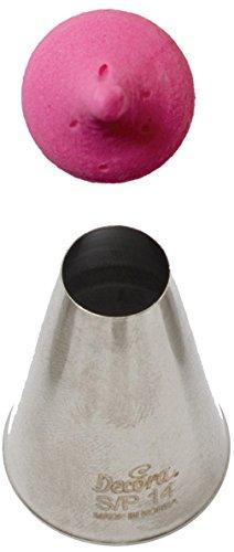 DECORA 0268502 Cornetto Liscio 14, Acciaio, Argento bocchette; decorative