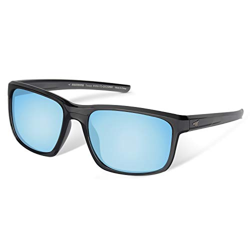 - KastKing Toccoa Polarized Sport Sunglasses, Gloss Smoke Crystal Frame, Smoke Base Ice Mirror