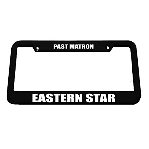 - DIY Tino Past Matron Eastern Star License Plate Frame Novelty Auto Car Tag Vanity Gift for Law Enforcement