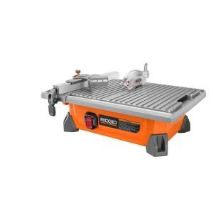 "RIDGID 7"" Portable Job Site Wet Tile Saw"