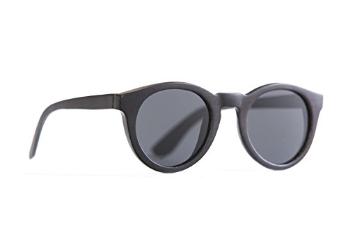 Proof Eyewear Unisex Fairview Black Maple Handcrafted Water Resistant Wooden Sunglasses