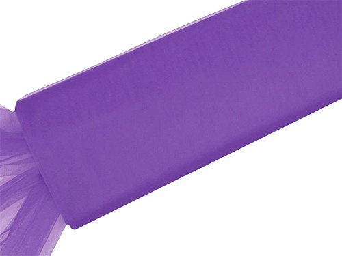 BalsaCircle 54-Inch x 120 feet Purple Large Net Tulle Fabric by the Bolt - Wedding Party Decorations Sewing DIY Crafts Costumes