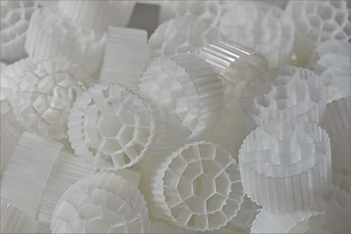 1 Cubic Foot K3 Filter Media Moving Bed Biofilm Reactor (MBBR) for Aquaponics Aquaculture Hydroponics Ponds Aquariums by Wholesale Koi Farm (1 Cubic Foot)
