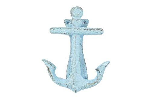 Rustic Light Blue Cast Iron Decorative Anchor Door Knocker 6\
