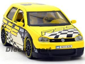 1:24 All Stars VW Volkswagen Golf R32 DIECAST Model CAR Yellow - R32 Vw Model