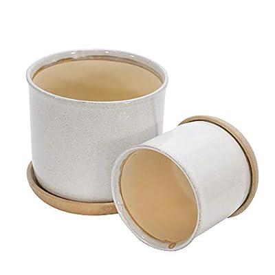 Sagebrook Home Set of 2 Ceramic 6 and 8