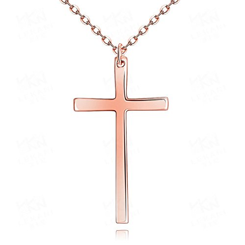 High Polish Prayer Box Charm (Plain Simple Stainless Steel Polished Cross Pendant Necklace 18