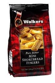 Walkers, Shortbread Fingers Mini, 4.6 Ounce (Pack of 12)