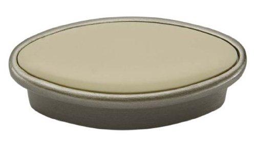 Giusti WPO110.032.01F7 Romantic Knob with Ivory Porcelain, Satin Nickel