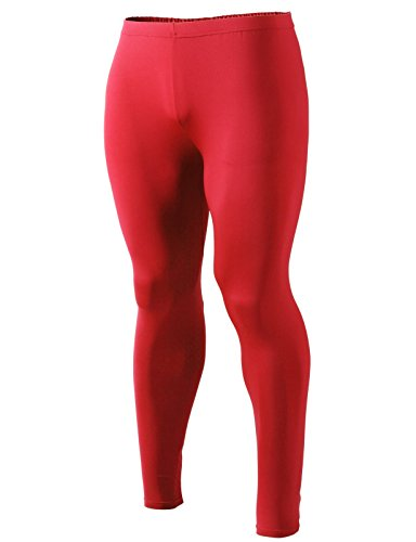 Men Active Skin Tights - Red