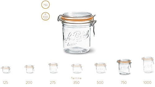 Le Parfait French Terrines Wide Mouth Glass Canning Jar with 100mm Gasket, 750 Grams (Pack of 2) by Le Parfait (Image #4)