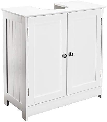 Bonnlo Pedestal Under Sink Storage Bathroom Vanity with 2 Doors Traditional Bathroom Cabinet Space Saver Organizer 23 5 8 x 11 7 16 x 23 5 8 L x W x H White Pedestal Sink