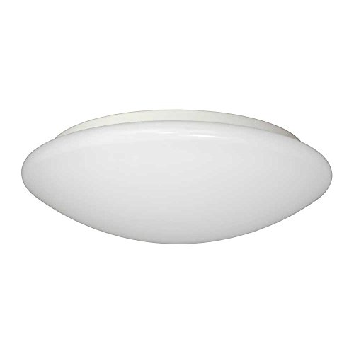 (Jesco Lighting CM406S-4080wH 4000K Classic Dome LED Ceiling Fixture/ADA Sconce with Acrylic Shade, White, 11