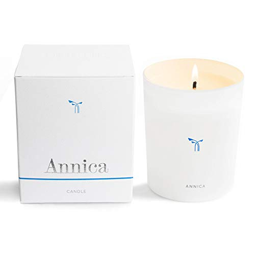PHLUR Annica Luxury Scented Candle in Glass Vessel - Long Lasting, 100% Natural Wax Candle with Notes of Sandalwood, Hazlenut, Fig & White Floral - Embrace Natural Wax