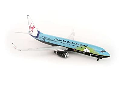 AVIATION200 1-200 Scale Model Aircraft AVDP004 Virgin Blue 737-800 1-200 Head To Queensland