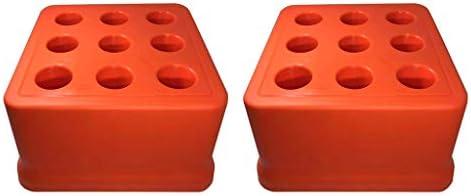 yotijar 2x耐久性のあるBT40ツールホルダー9穴ドリルビットリーマーオーガナイザー収納ボックスケース