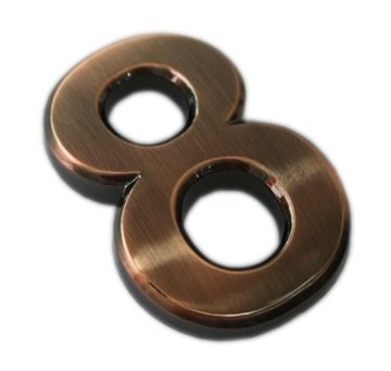 mailbox numbers metal - 3