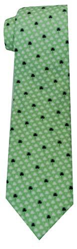 Vineyard Vines Mens Tie Silk Standard Length Formal Necktie (Palmetto Leaf Green)