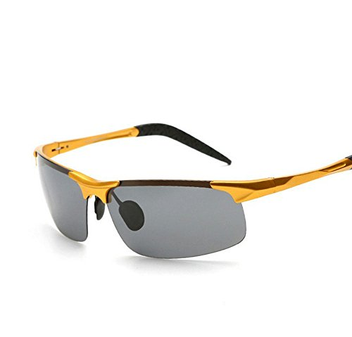 Arctic Star® Shot glasses polarized sunglasses limited edition metal (Gold frame Black lens)