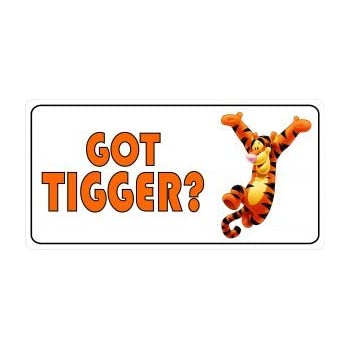 Amazon Com No Doubt About It Tigger Rules License Plate