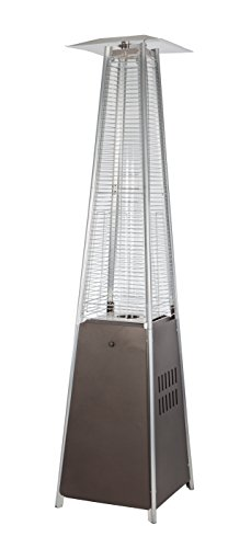 Golden Flame Resort Model 40,000 BTU Glass Tube Pyramid Style Flame Patio Heater in Rich-Mocha Finish