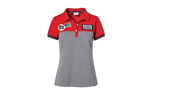 Porsche Damen Martini Racing Polo-Shirt Gr. S, rot/grau ...